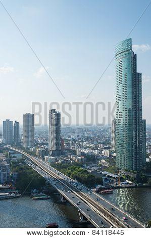 Bangkok, February 21 : Bangkok View From Abandon Tower On February 21, 2015. Bangkok Is The Capital