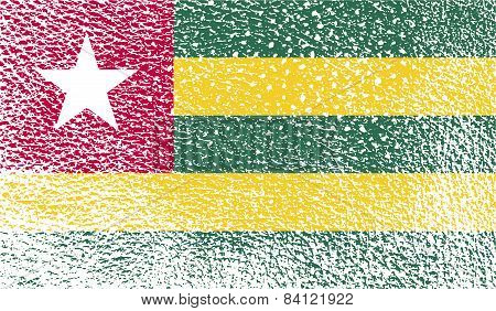 Flag Of Togo With Old Texture. Vector