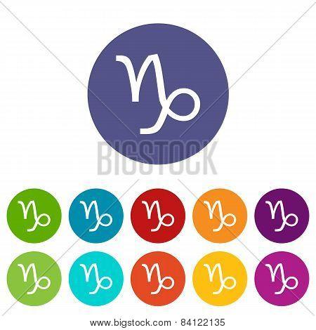 Capricorn flat icon