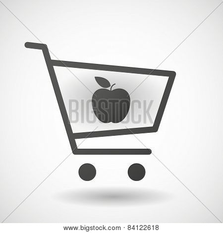 Shopping Cart Icon With A Blood Drop