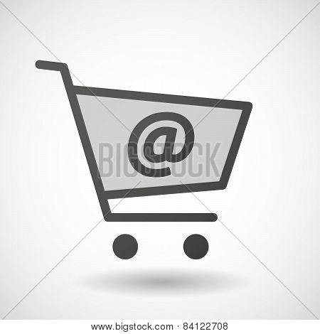 Shopping Cart Icon With An