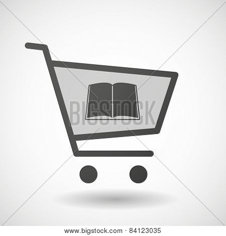 Shopping Cart Icon With A Book