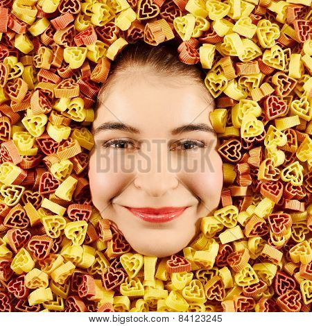 Woman And Pasta