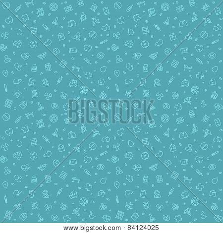 Blue Seamless Medical Pattern