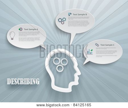 Describing Options Infographic Background