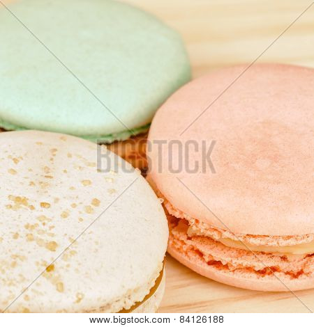 French Macarons top view