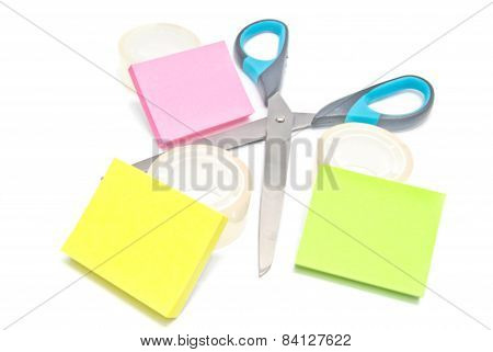 Scissors, Tape And Sticky Notes