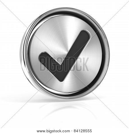 Metal tick icon