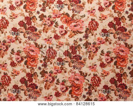Red Vintage Floral Pattern