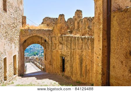 Swabian Castle of Rocca Imperiale. Calabria. Italy.