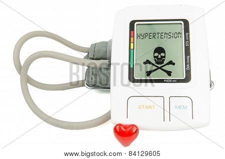 Digital Hypertension blood pressure monitor