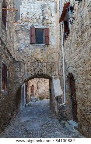 Street In Medieval Town