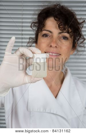woman laboratory assistant in the laboratory