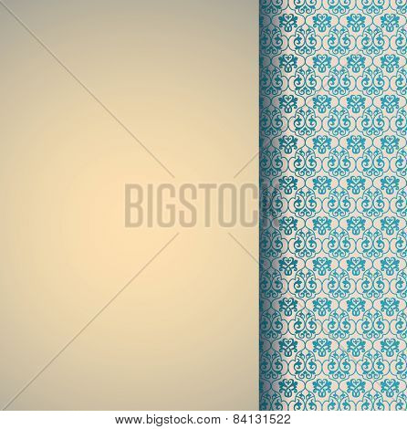 Classical blue and cream pattern design