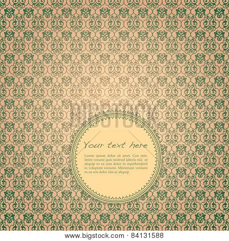 Green and cream classical pattern design