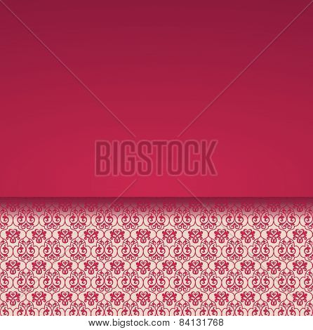 Classical red pattern card design