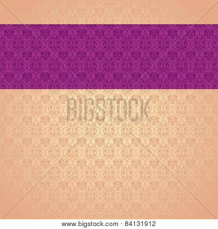 Classical beige and purple pattern design