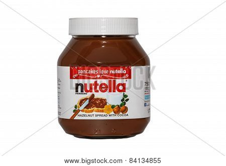 London,uk - March 4Th 2015: A 750G  Jar Of Nutella Hazelnut Spread Made By Ferrero.