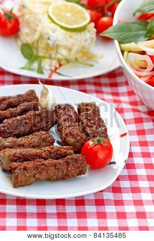 Grilled kebabs - kebab grill
