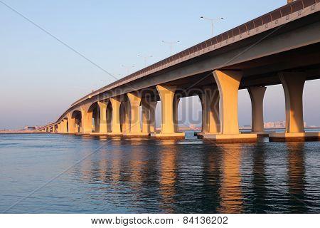 Sheikh Khalifa Bridge In Abu Dhabi