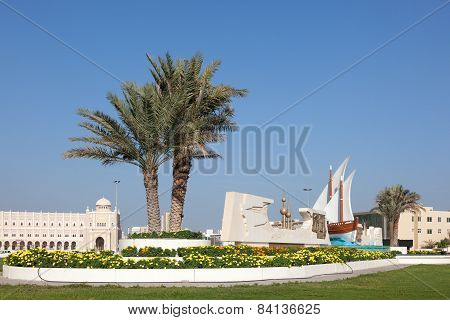 Kuwait Roundabout In Sharjah