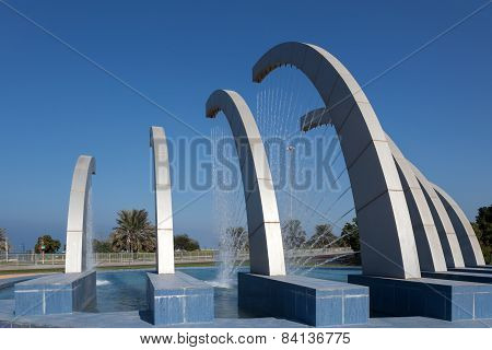 Fountain At The Corniche In Abu Dhabi