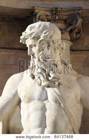 Oceanus in the Trevi Fountain
