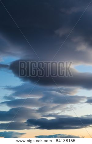 Dark Cloud Formation Vertical Orientation