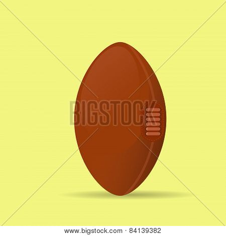 american football rugby ball icon flat vector