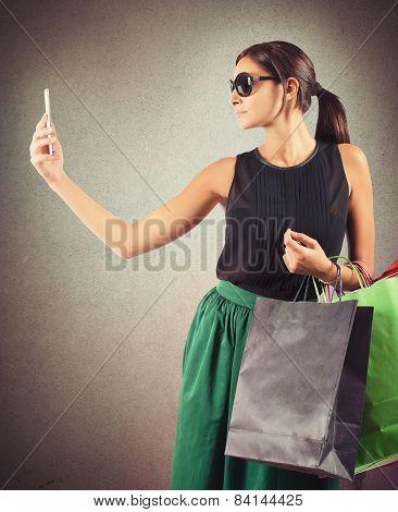 Shopping selfie