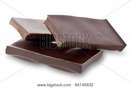 Mangled Pieces Of A Chocolate Bar