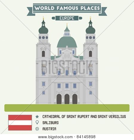 Cathedral Of Saint Rupert And Saint Vergilius. Salzburg