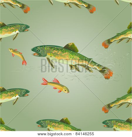 Seamless Texture  Brook Trout  Predator Vector