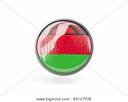 Round Icon With Flag Of Malawi