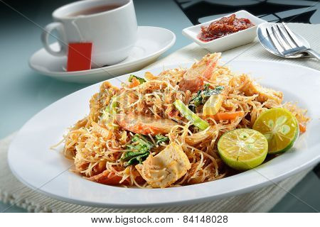 Penang Fried Prawn Rice Vermicelli