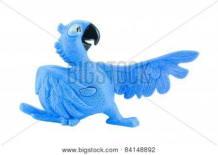 Blu The  Blue Macaws Toy Character Form Rio Animation Film.