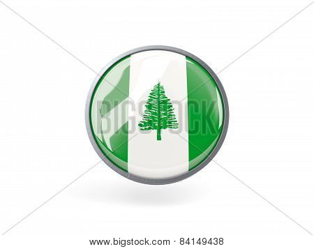Round Icon With Flag Of Norfolk Island
