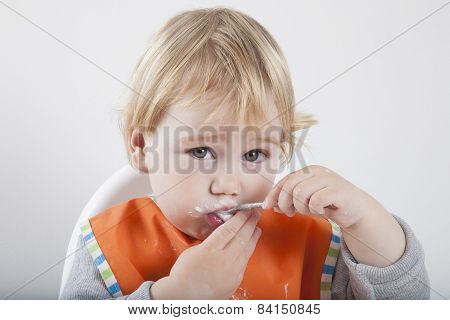 Eating Spoon Looking