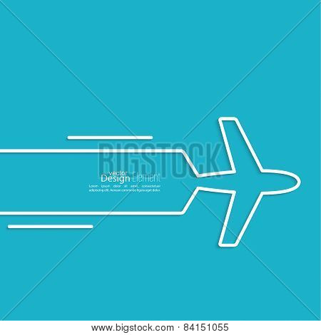 Icon airplane.