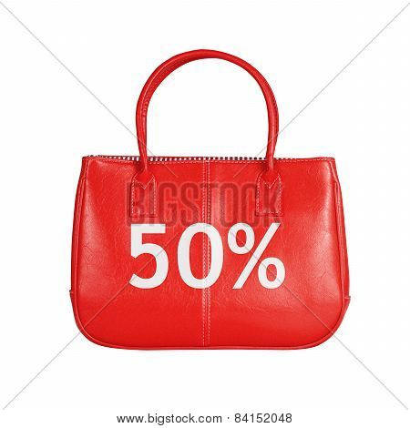 Sale Bag Design Element Isolated On White