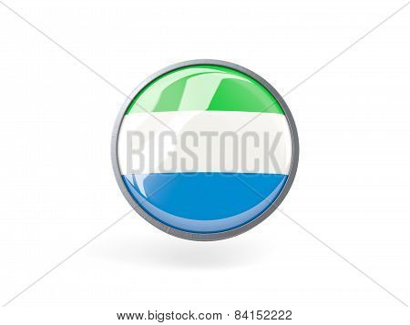 Round Icon With Flag Of Sierra Leone