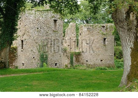 France, The Castle Of Ranrouet In Herbignac
