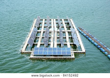 Electricity With Solar Power Station.