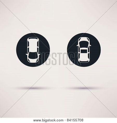 Parking vector icon graphic design flat style.