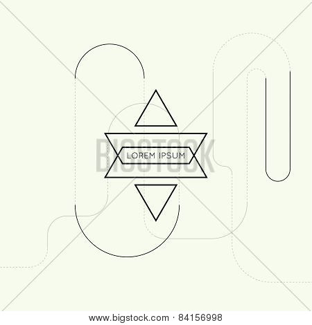Hipster vector techno background