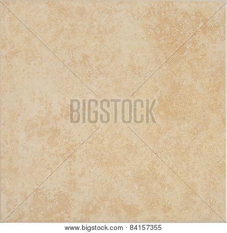 Floor Ceramic Tile In Ocher