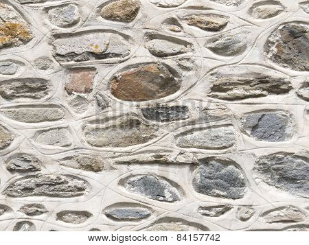 Stone Wall With Mortar Background