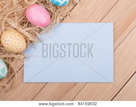 Easter Egg Border With Envelope
