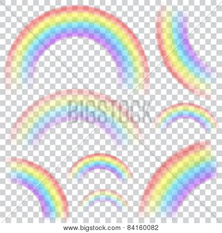 Set Of Transparent Rainbows