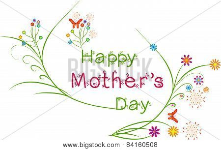 Happy Mothers's Day floral greeting card